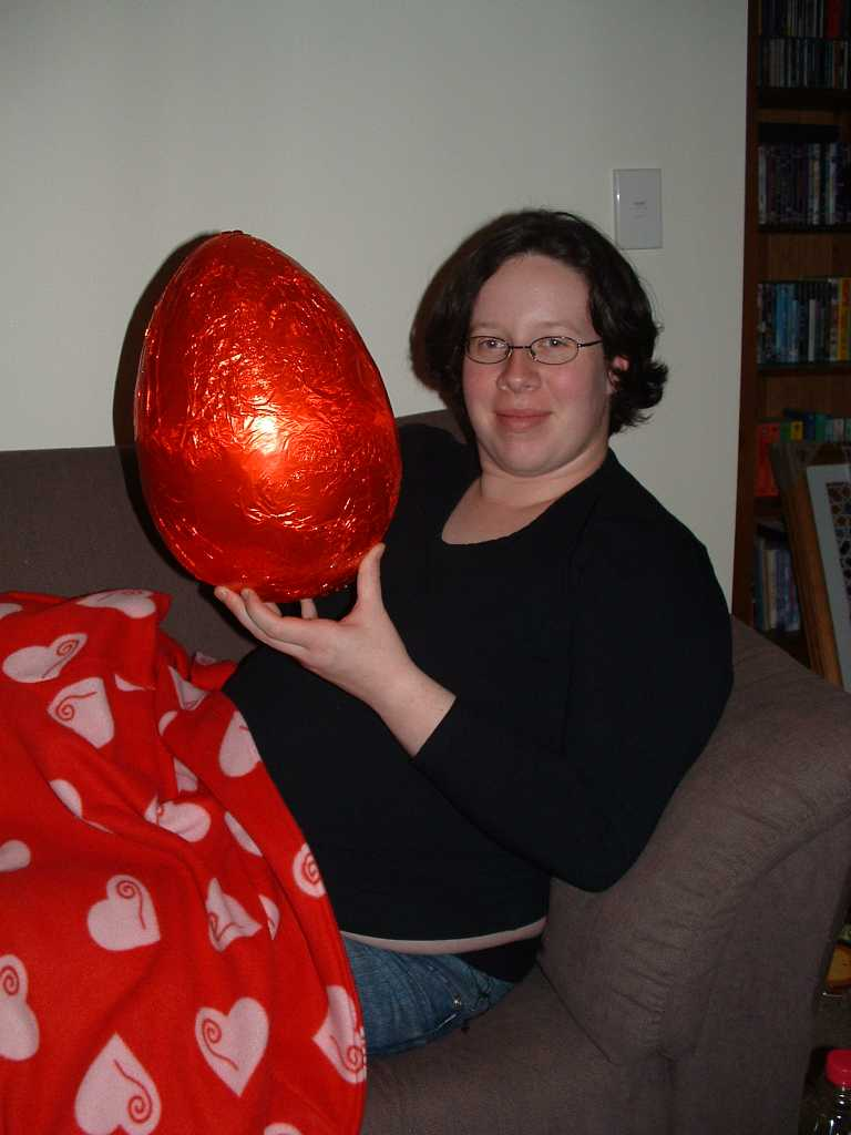 Kate with egg